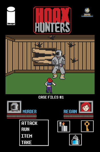 Hoax Hunters Case Files #1 Chicago Comic Con Exclusive Variant 8-Bit Cover by Michael Moreci