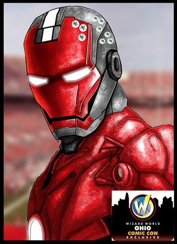 <i>Iron Buckeye</i> Ohio Comic Con Exclusive Lithograph by Zach Jordan