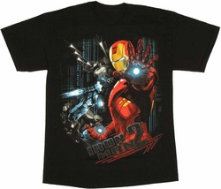 Iron Man and War Machine Iron Man 2 T-Shirt - Stylin' Online Exclusive!