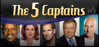 It�s A Star Trek Celebration! Five �Star Trek� Captains Appearing Together For First Time Ever!