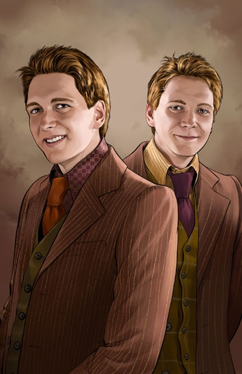 <i>James & Oliver Phelps Twins</i> Chicago Comic Con VIP Exclusive Lithograph by Mike Miller