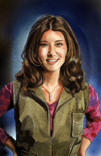 <i>Jewel Staite</i> Philadelphia Comic Con Wizard World VIP Exclusive Lithograph by Cris Delara