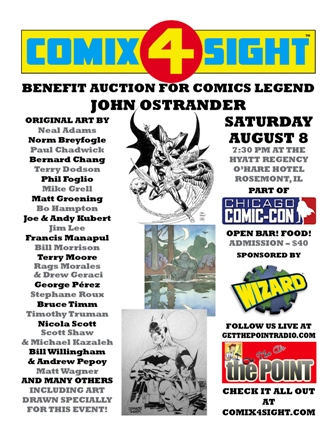 JOHN OSTANDER BENEFIT AT CHICAGO COMIC-CON BRINGS IN ALL-STAR ART