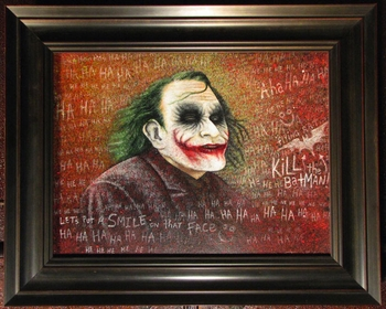 <i>JOKER</i> an Original handcrafted Oil/Mixed Media Painting Philadelphia Comic Con Exclusive