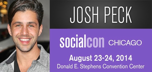 Josh Peck, <i>Social Media Phenom</i>, Coming to socialcon CHICAGO