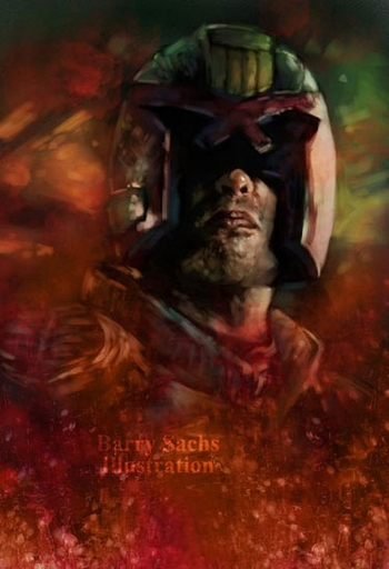 <i>Judge Dredd</i> Philadelphia Comic Con Exclusive Print by Barry Sachs