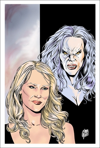 <i>Julie Benz</i> Sacramento Comic Con VIP Exclusive Lithograph by Minck Oosterveer