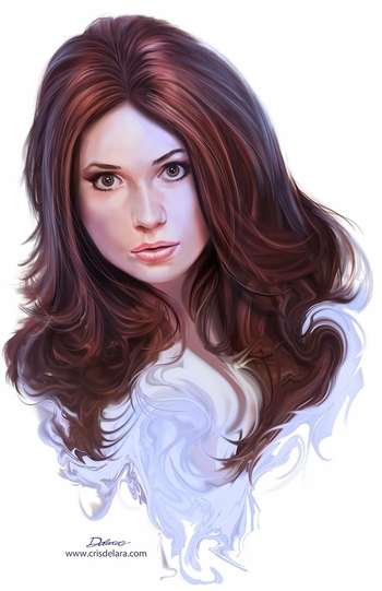 <i>Karen Gillan</i> Wizard World Comic Con VIP Exclusive Lithograph by Cris Delara