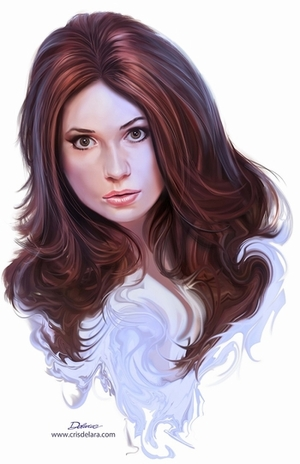 Karen Gillan Wizard World Comic Con VIP Exclusive Lithograph by Cris Delara