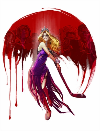<i>Killer Prom Queen</i> Mid-Ohio Comic Con VIP Exclusive Lithograph by Stephanie Hans