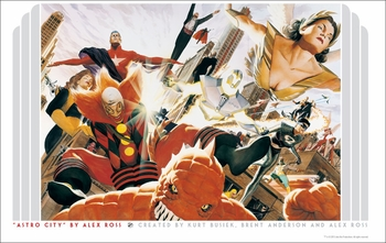 <i>Kurt Busiek�s Astro City</i> Portland Comic Con VIP Exclusive Lithograph by Alex Ross