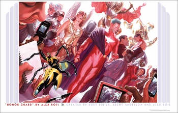 <i>Kurt Busiek�s Astro City �Honor Guard�</i> Portland Comic Con VIP Exclusive Lithograph by Alex Ross