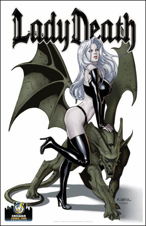 <i>Lady Death: Gargoyle</i> Print By Richard Ortiz & Diego Garcia