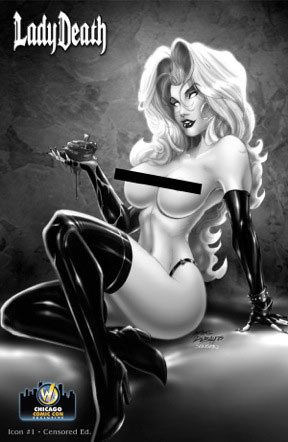 <i>Lady Death: Icon #1 Censored Edition</i> Wizard World Chicago Exclusive