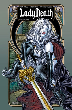 LADY DEATH PREMIERE Art Nouveau Wizard World Philadelphia Comic Con Exclusive