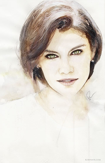 <i>Lauren Cohan</i> Wizard World Comic Con VIP Exclusive Lithograph by Rob Prior