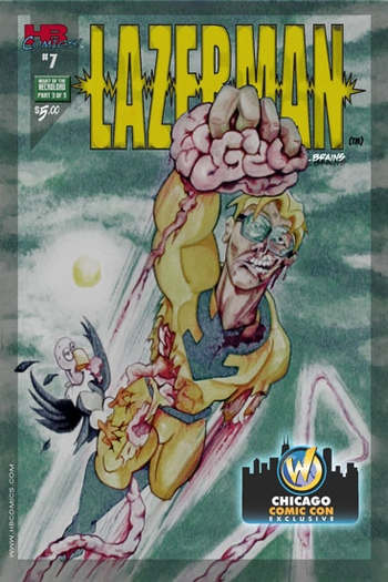 <i>Lazerman #7</i> Chicago Comic Con Exclusive by HBComics