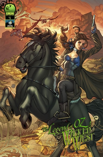 <i>Legend of Oz: The Wicked West</i> Chicago Comic Con Exclusive Variant Cover by Big Dog Ink