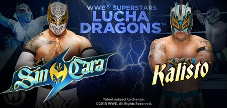 WWE� Superstars Lucha Dragons ─ Sin Cara� & Kalisto�, Coming to San Jose