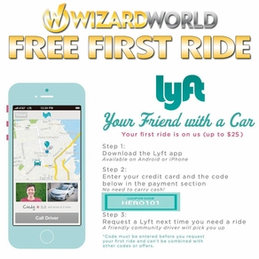 Need A Ride To Wizard World Tulsa Comic Con? Lyft Is �Your Friend With A Car� First Ride Free!