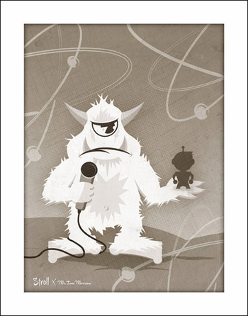 <i>M.C. Stroll</i> Portland Comic Con Exclusive Print by Nathan Miller (Mr. Tom Morrow Collectible Toys)