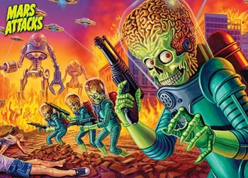 <i>Mars Attacks</i> Philadelphia Comic Con Topps Panel Exclusive Promo Card