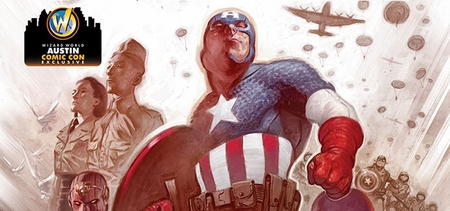 Marvel Comics & Wizard World Reveal � Captain America #25� Exclusive Variant Cover By Julian Totino Tedesco For Austin Comic Con