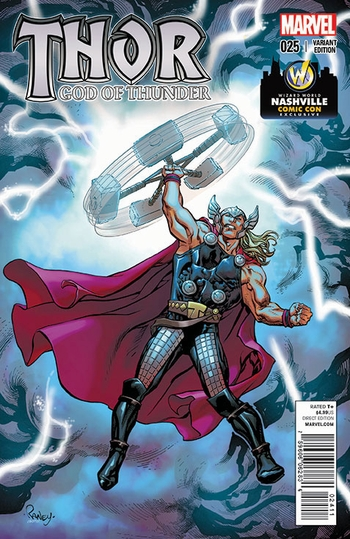 Marvel Comics & Wizard World Reveal �God of Thunder #25� Exclusive Variant Cover By Tom Raney For Nashville Comic Con