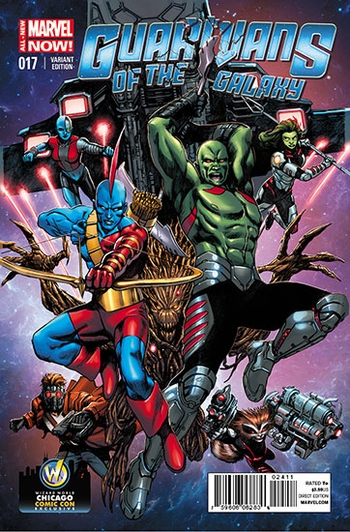 Marvel Comics & Wizard World Reveal �Guardians of the Galaxy #17� Exclusive Variant Cover By Alvaro Martinez For Chicago Comic Con