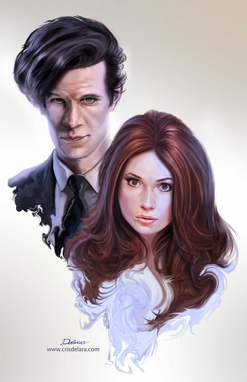 <i>Doctor Who Dual</i> Louisville Comic Con VIP Exclusive Lithograph by Cris Delara