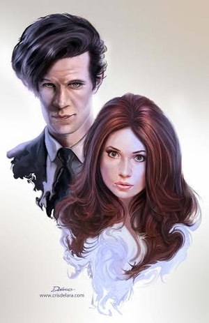 <i>Matt Smith & Karen Gillan</i> Wizard World Comic Con VIP Exclusive Lithograph by Cris Delara