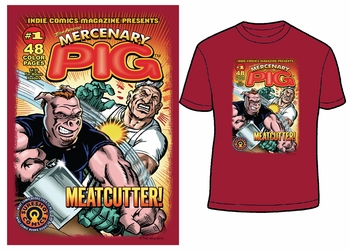<i>Mercenary Pig T-Shirt</i> Philadelphia Comic Con Exclusive T-Shirt by Tom Arvis