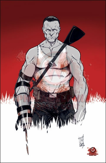 <i>Merle Dixon</i> from �The Walking Dead� Philadelphia Comic Con Exclusive Print by Tom Hodges