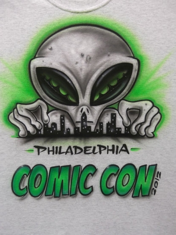 <i>Mike�s Custom Airbrush</i> T-Shirt Philadelphia Comic Con Exclusive T-Shirt