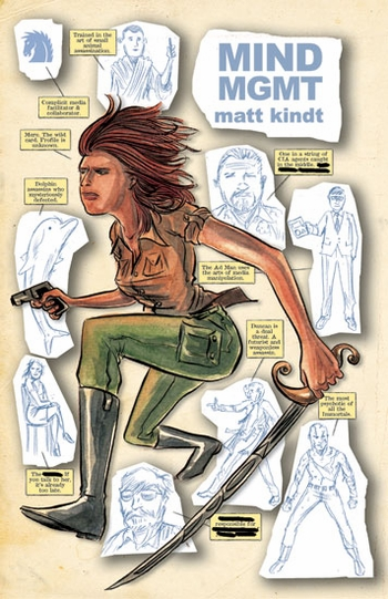 <i>MIND MGMT</i> St. Louis Comic Con Wizard World VIP Exclusive Lithograph by Matt Kindt