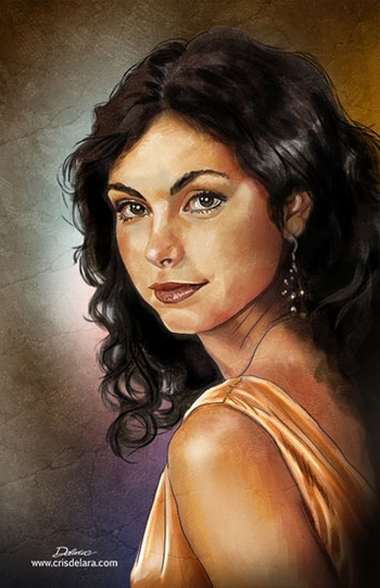 <i>Morena Baccarin</i> Chicago Comic Con Wizard World VIP Exclusive Lithograph by Cris Delara