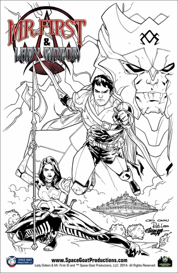 <i>Mr. First & Lady Gideon (Inked Version)</i> Wizard World Comic Con VIP Exclusive Lithograph by RB Silva & Rob Lean