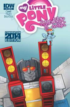 <b><i>My Little Pony: Friendship is Magic/Transformers Crossover</i> Atlanta Comic Con Exclusive Cover by Katie Cook</b>