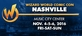 Wizard World Comic Con Nashville 2016 3-Day Weekend Admission November 4-5-6, 2016