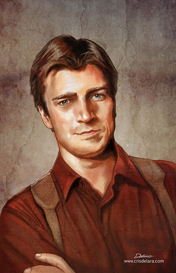 <i>Nathan Fillion</i> Wizard World Comic Con VIP Exclusive Lithograph by Cris de Lara