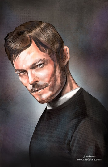 <i>Norman Reedus</i> Comic Con NYC Experience VIP Exclusive Lithograph by Cris Delara