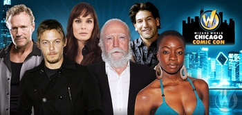 Norman Reedus, Danai Gurira, Scott Wilson Head Six �The Walking Dead� Stars @ Wizard World Chicago Comic Con, August 21-24