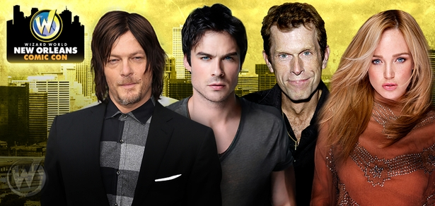 Norman Reedus, Ian Somerhalder, Paul Wesley, Tom Felton Among Top Celebrities Scheduled To Attend Wizard World New Orleans Comic Con, January 9-10-11, 2015