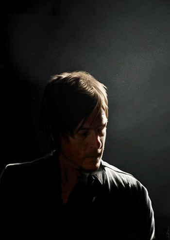 <i>Norman Reedus</i> Louisville Comic Con VIP Exclusive Lithograph by Amanda Tolleson