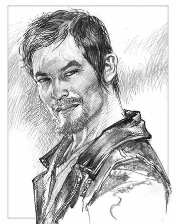<i>Norman Reedus</i> Louisville Comic Con Exclusive Lithograph by Neal Adams