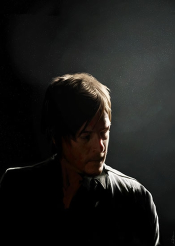 <i>Norman Reedus</i> Sacramento Comic Con VIP Exclusive Lithograph by Amanda Tolleson