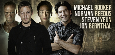 Norman Reedus, Steven Yeun, Jon Bernthal, Michael Rooker of �The Walking Dead� In Wizard World New Orleans Comic Con Lineup