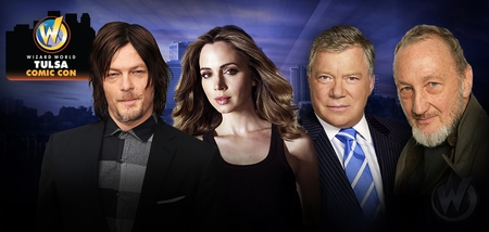 Norman Reedus, William Shatner, Robert Englund, Manu Bennett, Eliza Dushku, Ralph Macchio Headline Celebrity Guests @ Inaugural Wizard World Tulsa Comic Con, November 7-8-9