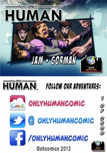 <i>Only Human</i> Ohio Comic Con Exclusive Trading Card by Daniel Gorman