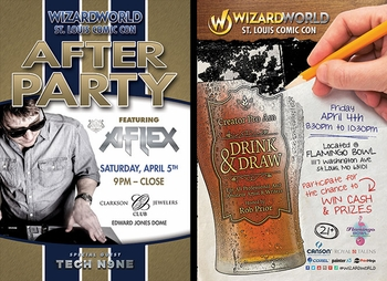 Party On! Wizard World St. Louis Comic Con Friday and Saturday After Dark